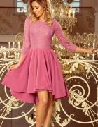 OLIVIA sukienka dłuższy tył koronka LILA...