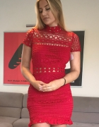 Love Triangle mini sukienka Double Dolce Red 34...