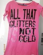 różowy Tshirt S only...