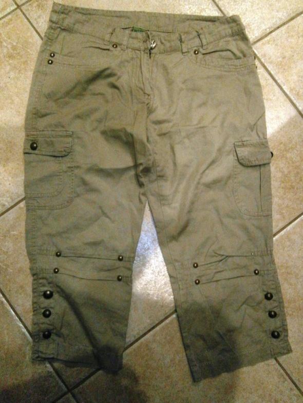 Spodnie spodnie rybaczki 2 pary oliwka i beżowe