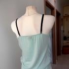 Bluzka Body Niebieska Asymetryczny Przód Top Vila Clothes Nowa 38