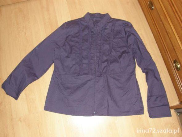 Bluzki Nowa fioletowa bluzka na suwak dla puszystej 46 48