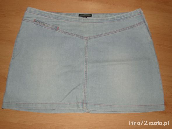 Spódnice AEROSTATO jeansowa mini jasna 42 XL