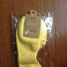 Skarpetki stópki do balerinek żółte rozmiar uniwersalny elastyczne nowe nieużywane w oryginalnym opakowaniu