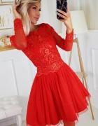 Piękna i efektowna sukienka czerwona XS S M L...