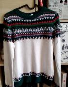 Sweter H&M we wzory norweskie...