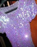 n o w a fioletowa z połyskiem tunika bluzka