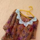 Koszula mgielka crop top kwiaty floral boho