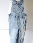 Ogrodniczki Dżinsowe H&M S 36 Dziury Jeansowe Przetarcia...