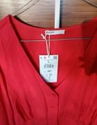 Czerwona koszulka cropp...