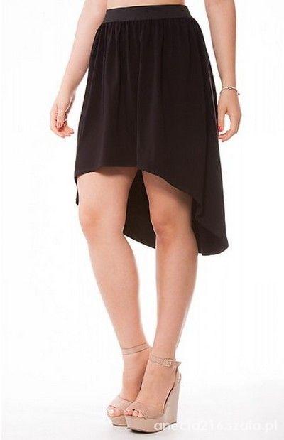 Spódnice Asymetryczna czarna spódniczka