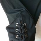 Ołówkowa dopasowana spódnica ze sznurowaniem po bokach wysoki stan