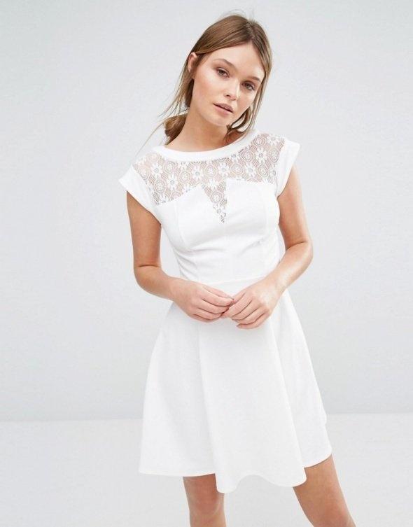 New Look rozkloszowana koronkowa koronka sukienka S M...
