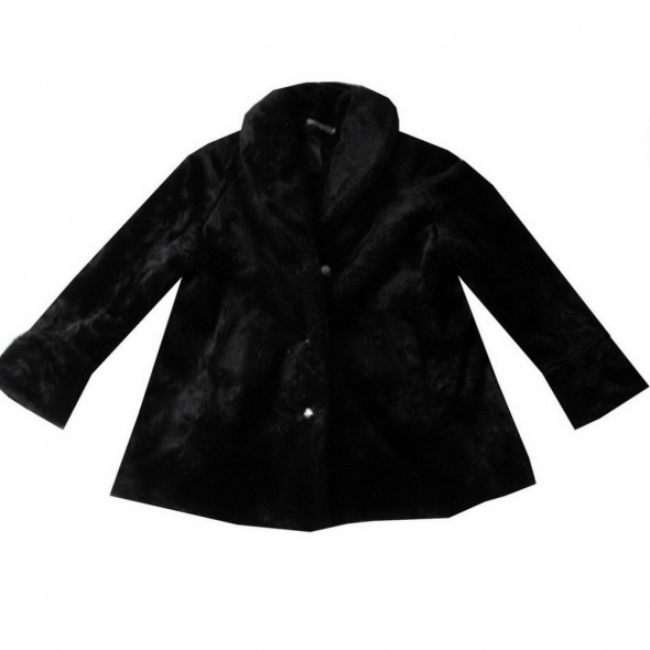 Odzież wierzchnia Sztuczne Czarne Futro Futerko Płaszcz 50 52