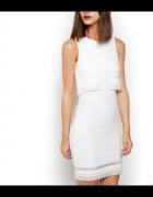Warstwowa sukienka wycięcia ażurowa New Look