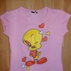 bluzka z motywem serc XS S