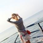 Żakardowa kolorowa sukienka Zara wzory mazgaje lato