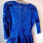 Cudna koronkowa kobaltowa sukienka Mosquito koronka niebieska