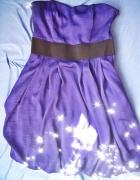 Granatowa sukienka bombka na wesele