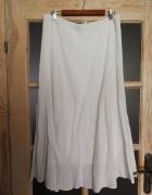 Piękna biala spódnica lniana elegancka Polecam...