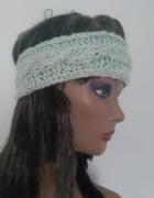 opaska handmade na głowę włosy uszy czapka...