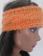 opaska handmade na głowę włosy uszy czapka miodowa