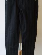 Spodnie H&M XS 34 Pasy Paski Czarne Rurki Divided...
