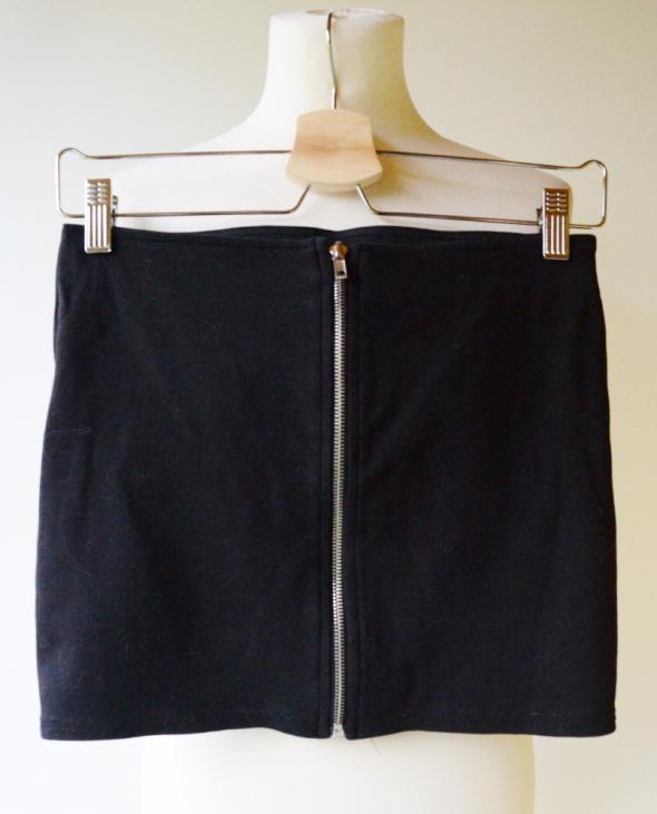 Spódnice Spódniczka Czarna Mini Zip Suwak H&M S 36 Divided