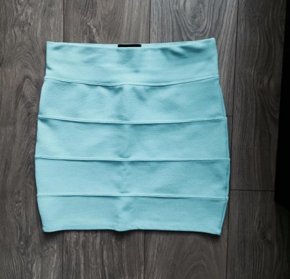 bandażowa spódniczka tally weijl miętowa