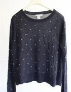 czarny sweterek bawełniany m