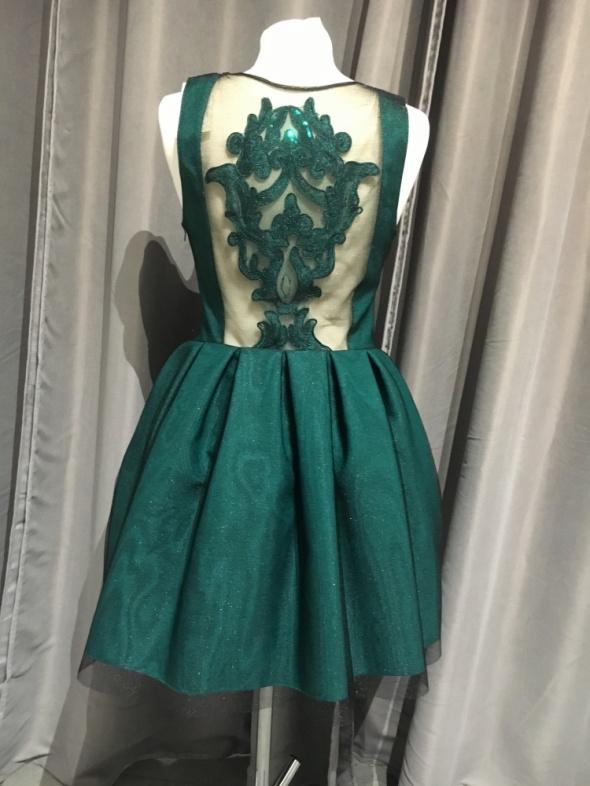 Sukienka butelkowa zielen plecy r38...