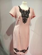 Sukienka łososiowa r42...