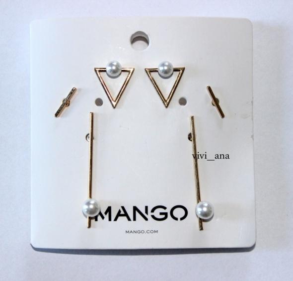 NOWY komplet kolczyków MANGO perełki