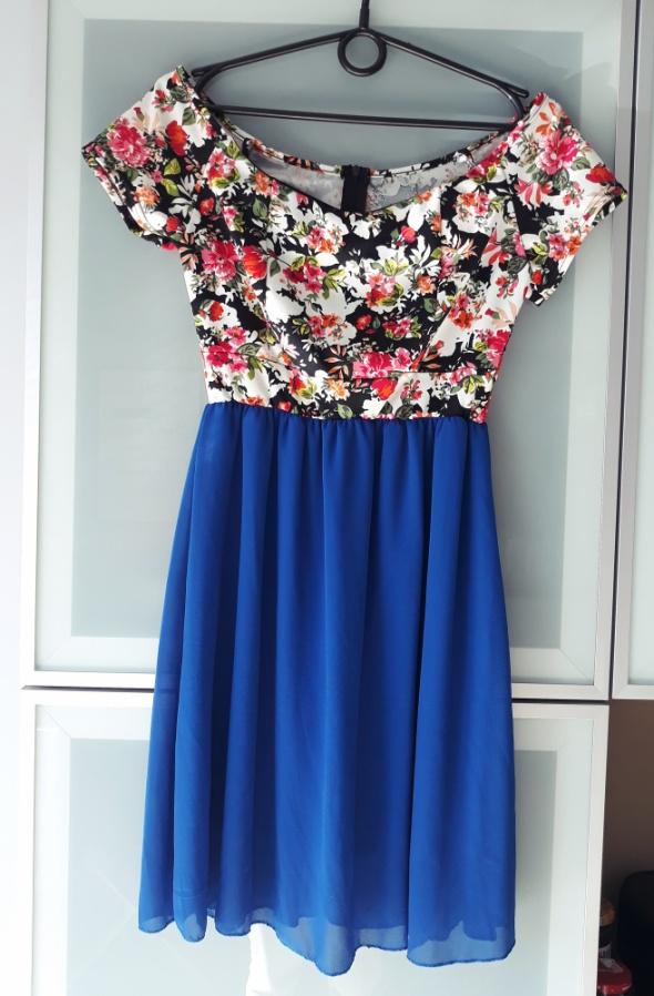 Sukienka kwiaty hiszpanka rozmiar S...