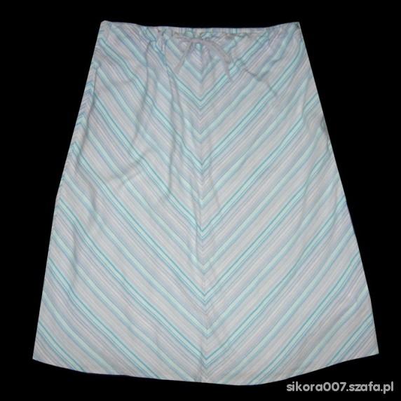 Spódnice Niebieska Spódnica w Paski XL XXL