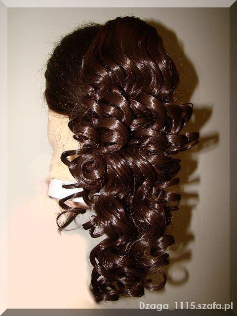 Ozdoby na włosy DOPINKA WŁOSY KRĘCONE SYNTETYCZNE 37cm