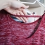 Melanżowy dłuższy sweterek XS
