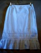 Biała spódniczka bawełna MIDI 40 H&M...