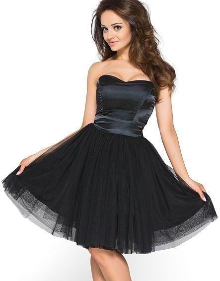 Suknie i sukienki sukienka czarna z tiulem HM