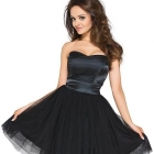 sukienka czarna z tiulem HM