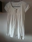 Biała tunika koszulka uniwersalna S M 36 38 wiosna...
