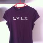 Tshirt fioletowy śliwkowy koszulka LVLX S M 34 XS