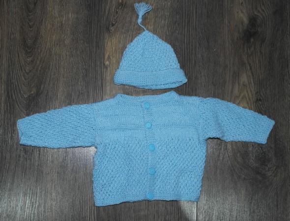 Sweter czapeczka komplet dla noworodka 50 52