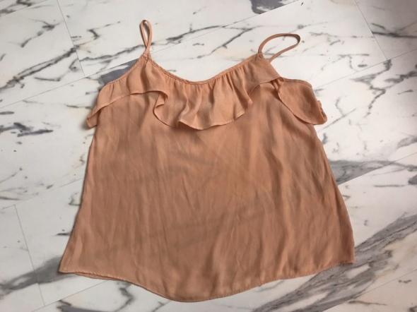 top na ramiączkach H&M S 36 łososiowy brzoskwiniowy