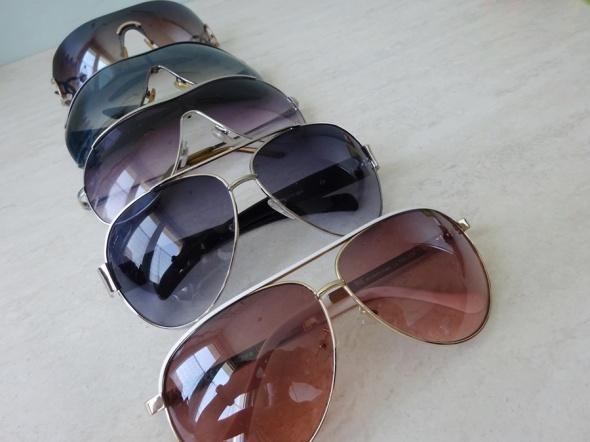 okulary pilotki aviatory przeciwsłoneczne 5 sztuk