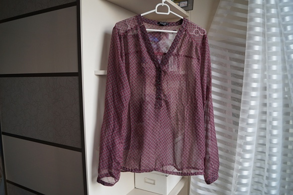 Bordowa koszula Amisu M...