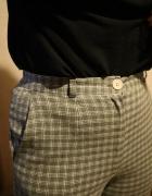 Spodnie w kratkę z wysokim stanem Fair Lady MODELL...