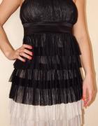 Orsay sukienka XS S falbanki warstwowa elegancka...