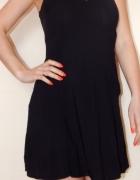 H&M czarna S M letnia sukienka