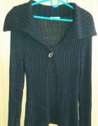 Czarny długi sweter Promod M...